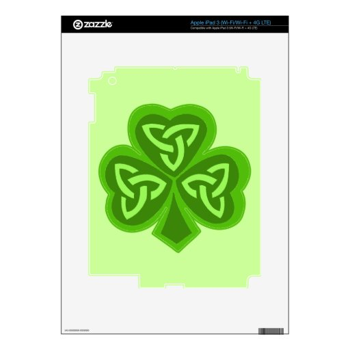 El día céltico de San Patricio del trébol Pegatinas Skins Para iPad 3