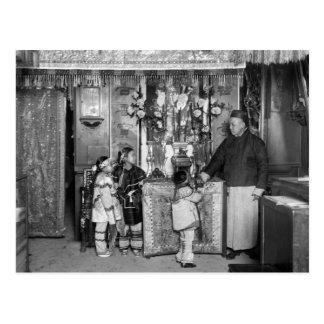 El día de Año Nuevo en Chinatown 1900s tempranos Postal