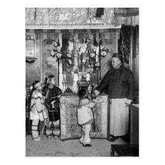 El día de Año Nuevo en Chinatown 1900s tempranos Postales