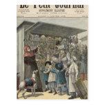 El día de Año Nuevo en París Postal