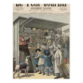 El día de Año Nuevo en París Tarjetas Postales