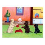 El día de Año Nuevo japonés Labradors 2 Tarjeta Postal