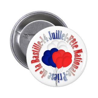 El día de Bastille hincha el botón Pin Redondo De 2 Pulgadas