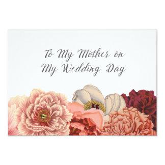 """El día de boda de la madre le agradece cardar invitación 5"""" x 7"""""""