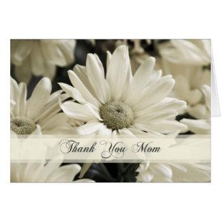 El día de boda de la mamá de las flores blancas le tarjetón