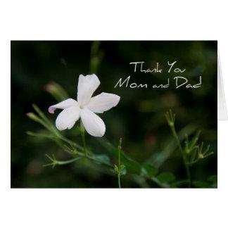 El día de boda de los padres de la flor blanca le  tarjeta de felicitación