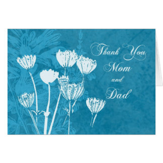 El día de boda de los padres de la turquesa le agr tarjeta de felicitación