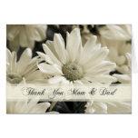 El día de boda de los padres de las flores blancas felicitacion