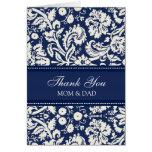 El día de boda de los padres le agradece el damasc tarjetas