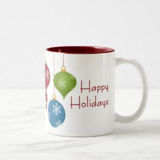El día de fiesta adorna la taza
