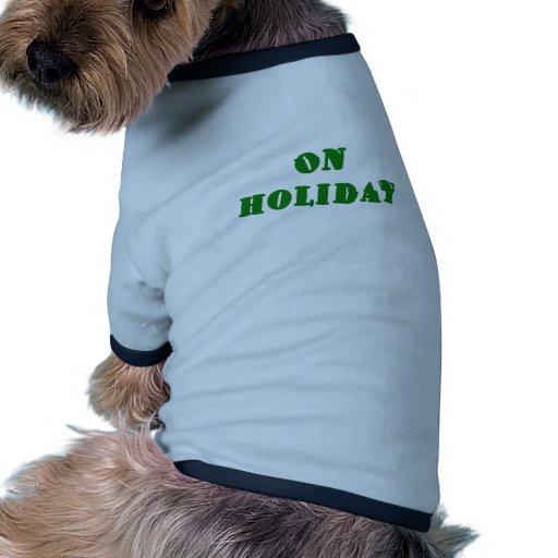 El día de fiesta camisas de mascota