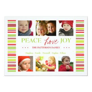 """El día de fiesta de la alegría del amor de la paz invitación 5"""" x 7"""""""