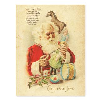 El día de fiesta de la alegría del navidad de postales
