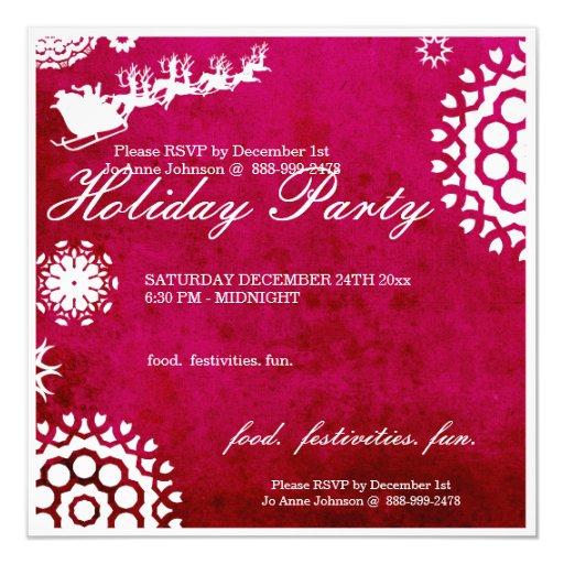 """El día de fiesta de la fiesta de Navidad invita a Invitación 5.25"""" X 5.25"""""""