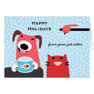 El día de fiesta del canguro del mascota tarjeta de felicitación