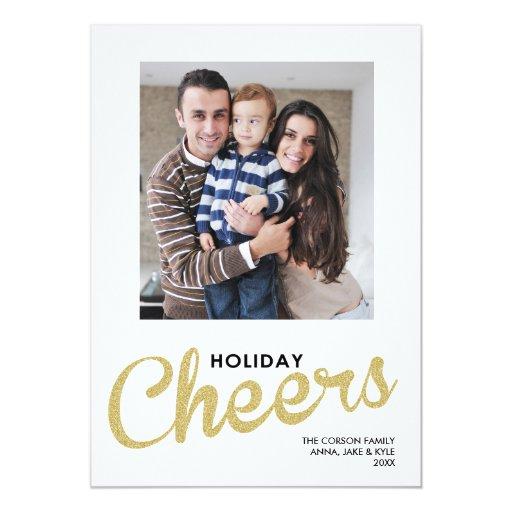 El día de fiesta del oro anima la tarjeta de comunicados