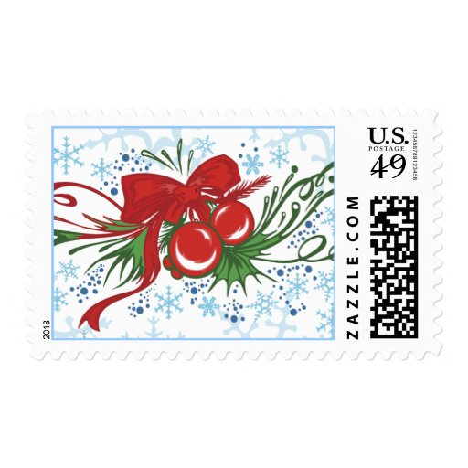 El día de fiesta diseña franqueo del ornamento de timbre postal