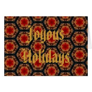 El día de fiesta feliz desea la tarjeta