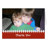 El día de fiesta le agradece tarjeta de la foto