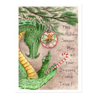 El día de fiesta soña el dragón - postal