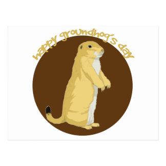 El día de Groundhog Postales