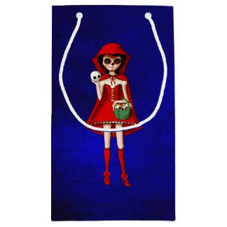 El día de la capa con capucha roja muerta bolsa de regalo pequeña