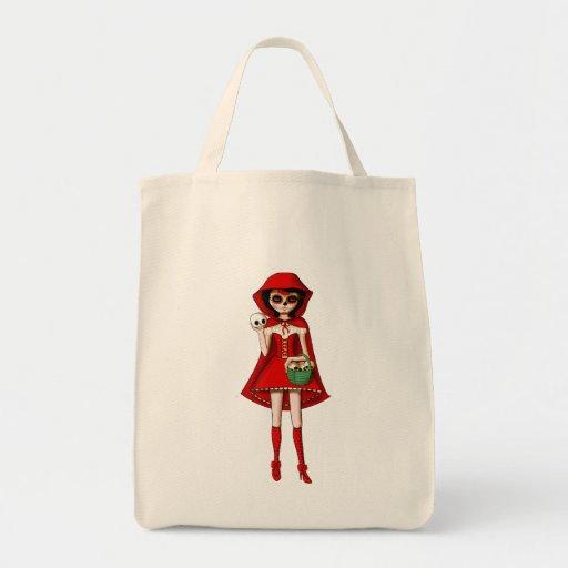 El día de la capa con capucha roja muerta bolsa tela para la compra