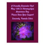 El día de la conciencia del Fibromyalgia invita Invitacion Personal