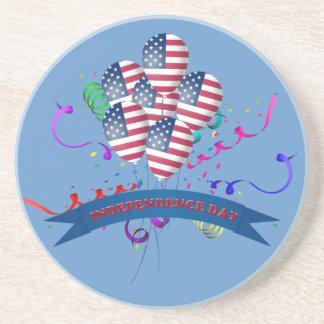 El Día de la Independencia hincha el práctico de Posavasos Manualidades