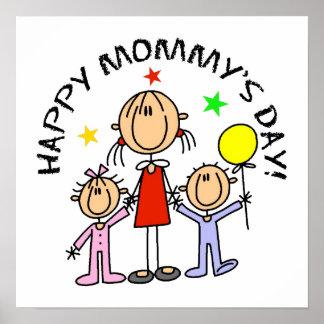El día de la mamá feliz póster