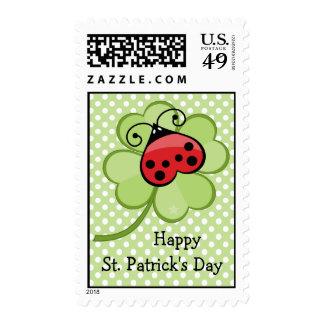 El día de la mariquita del irlandés 4 de la hoja sello
