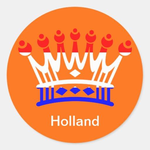 El día de la reina holandesa pegatina redonda