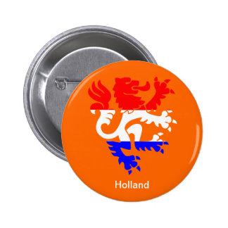 El día de la reina holandesa pin redondo de 2 pulgadas