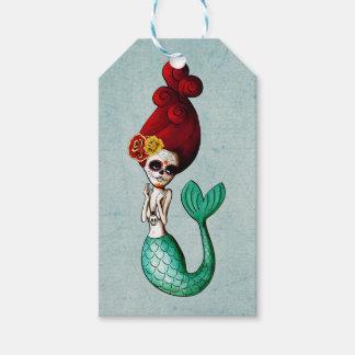 El día de la sirena hermosa muerta etiquetas para regalos