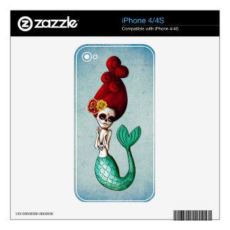 El día de la sirena hermosa muerta calcomanía para el iPhone 4S