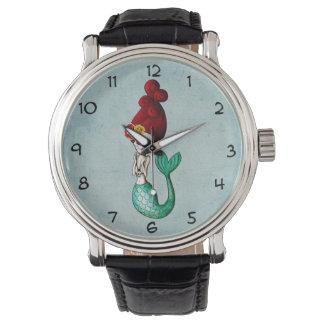 El día de la sirena hermosa muerta relojes de pulsera