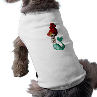El día de la sirena hermosa muerta camiseta sin mangas para perro