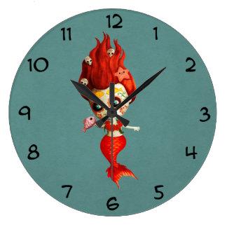 El día de la sirena muerta reloj redondo grande