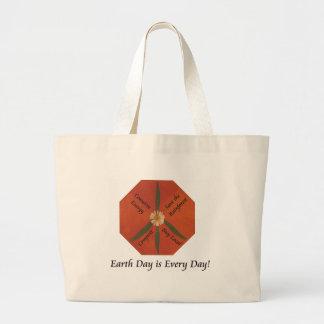 El Día de la Tierra es cada día Bolsa Lienzo