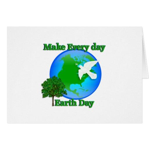 El Día de la Tierra hace cada gráfico del Día de l Tarjeta De Felicitación