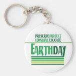 El Día de la Tierra protege Llavero Personalizado