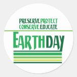 El Día de la Tierra protege Pegatina Redonda