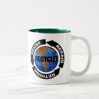 El Día de la Tierra recicla la taza - modificada p