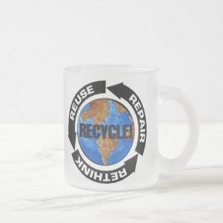 El Día de la Tierra recicla Taza Cristal Mate