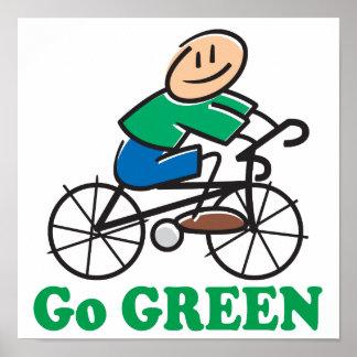 El Día de la Tierra va verde Poster