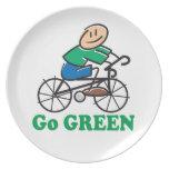 El Día de la Tierra va verde Plato Para Fiesta