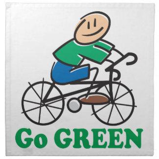 El Día de la Tierra va verde Servilleta De Papel