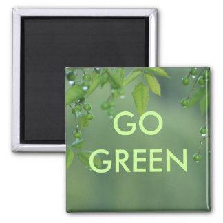 El Día de la Tierra y piensa verde Imán Cuadrado