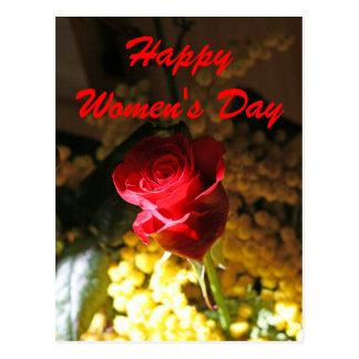 El día de las mujeres felices postales