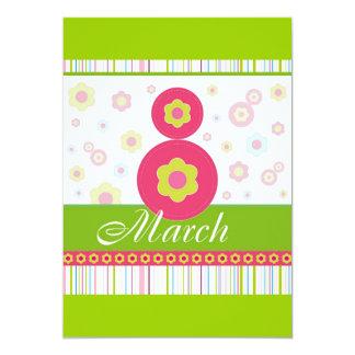 El día de las mujeres internacionales de March8 Invitación 12,7 X 17,8 Cm